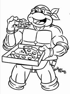 40 best ninja turtle coloring page