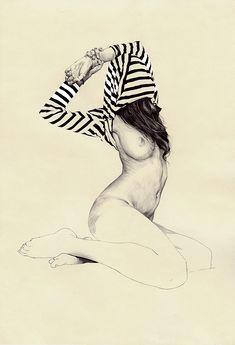 Streifen und Brüste in den Zeichnungen von Chamo San