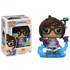 * From Overwatch, Mei, as a stylized POP vinyl from Funko!* Stylized collectible stands nearly 10 cm tall, perfect for any Overwatch fan! * Collect and display all Overwatch POP! Overwatch Mei, Funko Pop Figures, Pop Vinyl Figures, Vinyl Toys, Funko Pop Vinyl, Overwatch Pop Vinyl, Hot Topic, Otaku, Funk Pop