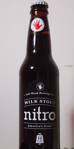 Left Hand Milk Stout Nitro Left Hand Brewing Company  (Longmont, Colorado, United States)    Milk / Sweet Stout | 6% ABV/Had it on tap at http://www.houseforbeer.com/