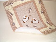 Sheep Baby Quilt  Baby Shower Gift Crib by Customquiltsbyeva, $100.00 Very unusual and lovely.