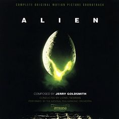 2007 Jerry Goldsmith - Alien (complete edition) [Intrada original design: H. Giger h Fox Movies, Scary Movies, Soundtrack Music, Music Tv, Music Covers, Album Covers, Lps, Cover Art, Halloween Sounds