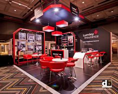 Don't be fearful of using black on a trade show stand.  It can create drama (Bold & The Beautiful style!) on the trade show floor.  Lumley Insurance @ NIBA 2012