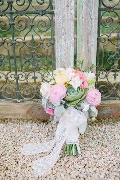 fluffy + succulent bouquet // photo by Kirsten Julia Photography // flowers by Going Lovely