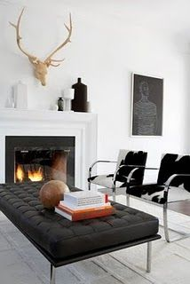Clean and classic modern.  {In the city} - Fireplace Ideas
