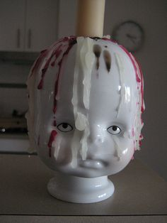 Little Joseph candle holder by Qubus: He's not creepy