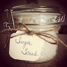 DIY sugar scrub. Bridal shower favor