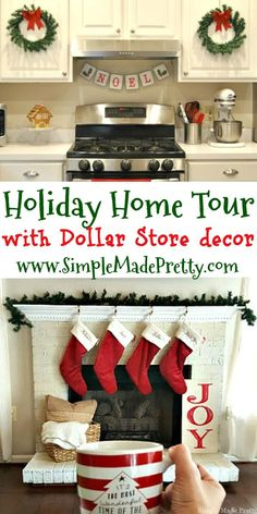 Dollar Store DIY Holiday Home Decor Ideas that will Save You a Ton of Money Learn how to make the most of your seasonal decor to use for other holidays and tips and tricks for dollar store holiday decor ideas! Dollar Tree Christmas, How To Make Christmas Tree, Christmas Home, Christmas Tree Decorations, Christmas Crafts, Christmas Lights, Christmas Island, Christmas 2019, Christmas Ideas