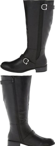NEED!  LifeStride Womens Selena Wide Shaft Black Kraft Ws Boot 6 #Shoes Selena, Riding Boots, Winter, Shoes, Black, Women, Fashion, Horse Riding Boots, Winter Time