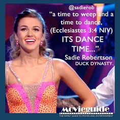 A time to dance :) #SadieRobertson #dwts #duckdynasty #duckcommander