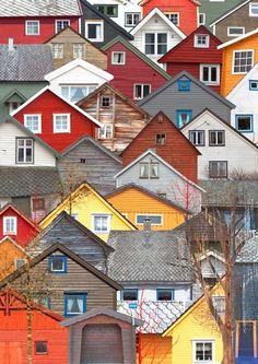 Colorful House Collection - would make a great jigsaw puzzle