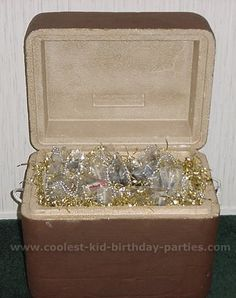 Great idea for a treasure chest! Or any kind of cooler you have! :)  From @Wendy Werley-Williams.coolest-kid-birthday-parties.com