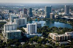 The Orlando skyline