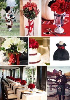 Christmas wedding plaid...
