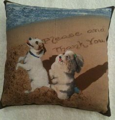 Jack Russell & Poodle Dog Lavender Cushion / Dog Gift - Handmade in Home, Furniture & DIY, Home Decor, Other Home Decor | eBay