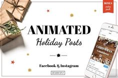 Animated Holiday Posts - Christmas by DESIGN SPLY on @creativemarket