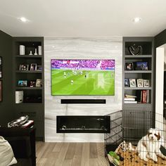 TV Installation Service Toronto - TV Wall Mounting & Home Theater Tv Over Fireplace, Wall Mounted Fireplace, Wall Mounted Tv, Tv Wall Mount Installation, Home Theater Installation, Tv Walls, Home Theater Rooms, Marble Wall, Lounge Ideas
