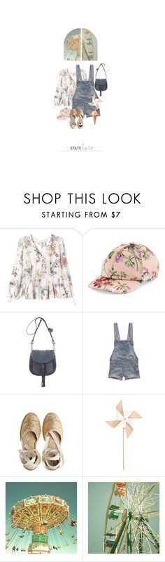 """""""Les Manèges / The Rides"""" by halfmoonrun ❤ liked on Polyvore featuring Rebecca Taylor, Gucci, Chloé, Hollister Co., Castañer, Hender Scheme, statefair and summerdate"""