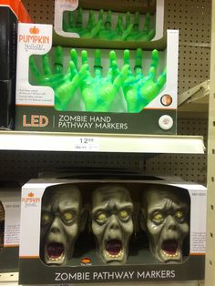 9/6/2015 MENARDS in Ankeny, Iowa, light up lawn - Zombie Decorations