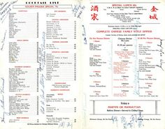 Insane Collection of Vintage LA Menus. You've got to see these 15 Gems.: Inside a Vintage Los Angeles Chinese Restaurant Menu
