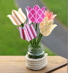 ❤ Colorful spring decoration paper tulips ❤Mindy -  craft idea & DIY tutorial collection