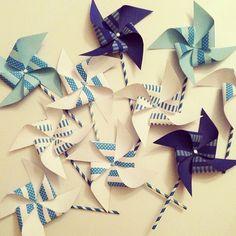 washi tape pinwheels