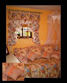 Instalaci n en casa de campo rustica cortina vichi de - Cortinas para casas rusticas ...
