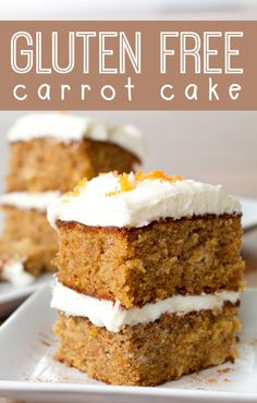 Who would have thought there is a Gluten Free Carrot Cake?We've simplified the ingredients and directions of carrot cake. Gluten Free Carrot Cake, Gluten Free Deserts, Gluten Free Sweets, Gluten Free Cakes, Foods With Gluten, Gluten Free Cooking, Dairy Free Recipes, Carrot Cakes, Dessert Oreo