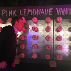 """Wall of donuts at last night's EY Strategic Growth Forum party. John was into…"
