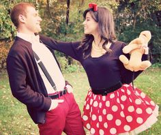 fari - cute Minnie Mouse costume, i want to wear that to match Connor!