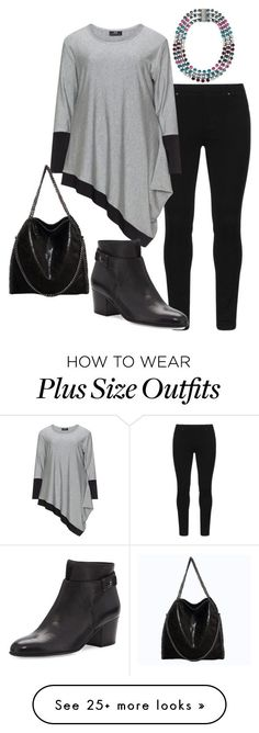 """""""plus size brika"""" by aleger-1 on Polyvore featuring Betsey Johnson and Vince"""