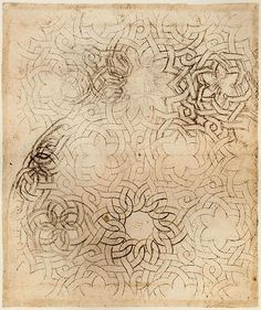 """Knotwork Pattern looks remarkably similar to the few copper plate engravings that remain of the knotwork emblems he designed for his """"Academia Leonardi Vinci"""""""