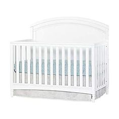 Perfect for your Baby and Nursery Child Craft Stella 4-in-1 Convertible Baby Crib in Matte White,Child Craft Stella 4-in-1 Convertible Baby Crib in Matte White, Gentle, art-deco style 4-in-1 convertible crib grows with your child by converting into a crib, daybed, toddler bed and full-size bed Strong metal mattress support adjusts to 3 positions to fit the growing needs of your child and fits... Nursery Furniture Sets, Toddler Furniture, Baby Furniture, Furniture Deals, Crib Mattress, Crib Bedding, Convertible Crib, Headboard And Footboard, How To Make Bed