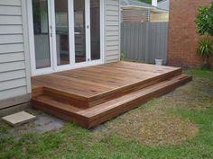 patio deck design ideas for your backyard 63 Patio Steps, Patio Diy, Diy Deck, Small Outdoor Patios, Small Porches, Small Patio, Front Porches, Small Decks, Small Pergola