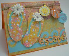 Escape Flip Flop Card! Cute!