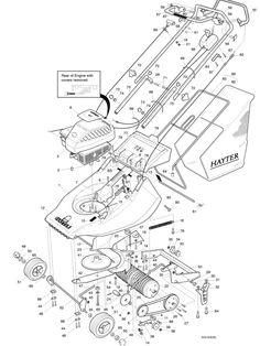 Hayter Harrier 41 - 305N001001 Spare Parts Machine diagrams Schematics Shoulders of shoreham www.shouldersofshoreham.co.uk