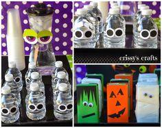 Monster Bags & Googly Eye Bottle | Crissy's Crafts