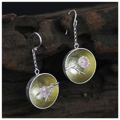 Find More Drop Earrings Information about Top Quality The Aroma of Wintersweet Handmade Ethnic Drop Earring Real 925 Sterling Silver Jewelry Natural Mother of Pearls,High Quality 925 sterling,China 925 sterling jewelry Suppliers, Cheap silver jewelry 925 from Lotus-Silver Jewelry Handmade Studio on Aliexpress.com