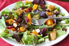 Maple Roasted Butternut Squash & Apple Salad