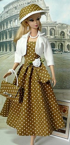 donnasdolldesigns.com features pictures of outfits that have been created and sold by Donnas-Doll-Designs. | Day Dresses and Afternoon Ensembles
