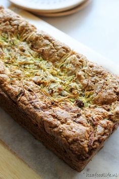 courgette citroen cake - It's a Food Life  #gezondecake #healthyfood #courgette