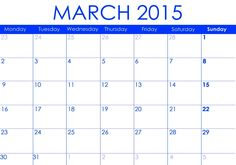 Download March  Us Calendar Printable Cute March