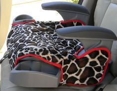 """Graco Affix Booster seat covers are quilted with 1"""" batting to make the cover padded and    durable.    Each are washable and in colors and prints that will encourage your child to stay seated.    The booster seat cover has elastic loops to hook on to the bottom of booster seat.    Created in a smoke free home    Other colors and prints are available on request, please allow10-14 days for construction and shipping.    #boosterseat #giraffe #caraccessory #gracoaffix #children 