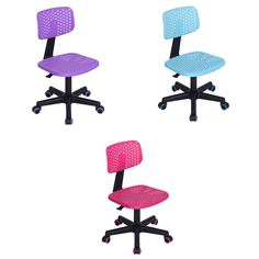 Homy casa Home Office Ergonomic Computer Swivel Adjustable Chairs with Armrest Mid Back Mesh and Task Secretary Chair Purple