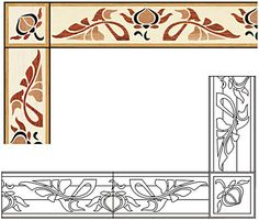 Click to see a larger image for B21 custom floor medallion, inlay, border or parquet.