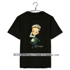Kpop bigbang concert gd maid image printing t shirt men women fashion cute o neck short sleeve t-shirt plus size top tees