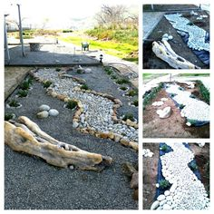 Gravel Garden Imagine a rock river Driftwood Stone art Lemnos Greece Petradi Studios