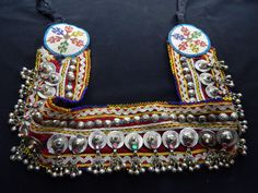 Vintage Kuchi Studded Coin Belt Gypsy Tribal Belly Dance. $34.50, via Etsy.