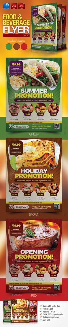 Restaurant Flyer Template #design Download: http://graphicriver.net/item/restaurant-flyer-vol10/11508624?ref=ksioks
