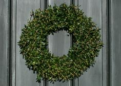 "Fresh Boxwood Wreath, Boxwood Wreath, 16"" Wreath, Fresh Christmas Wreath, Front Door Wreath,  Natural Wedding Decor,, Real Boxwood Wreath by BoxwoodManorFarm on Etsy"